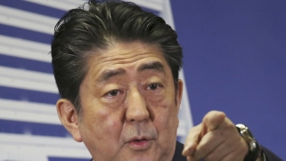 Abe says his priorities are North Korea and aging Japan