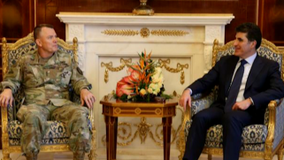Barzani receives commander of US forces  in Iraq and Syria