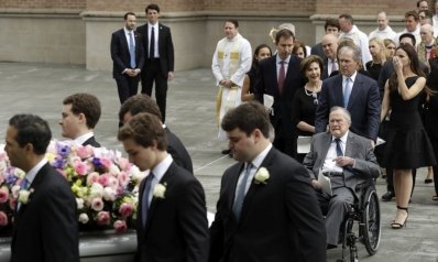 Laughter, tears as former first lady Barbara Bush remembered