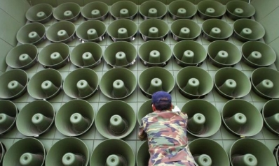 South Korea turns off loudspeaker broadcasts into North