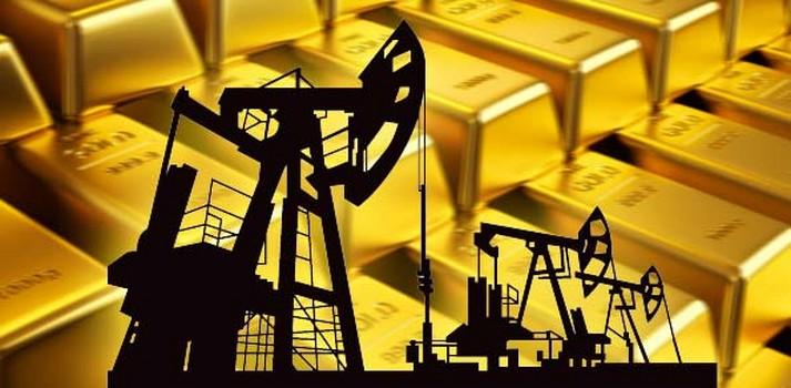 اسعار الذهب وعلاقتة مع النفط والدولار