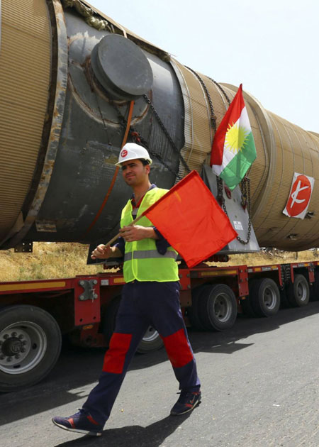 أربيل تمد أنبوبا لتصدير غاز كركوك إلى تركيا