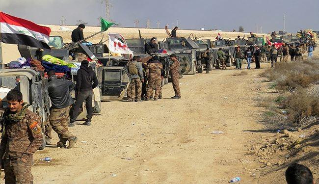 طلائع القوات العراقية التي دخلت الرمادي
