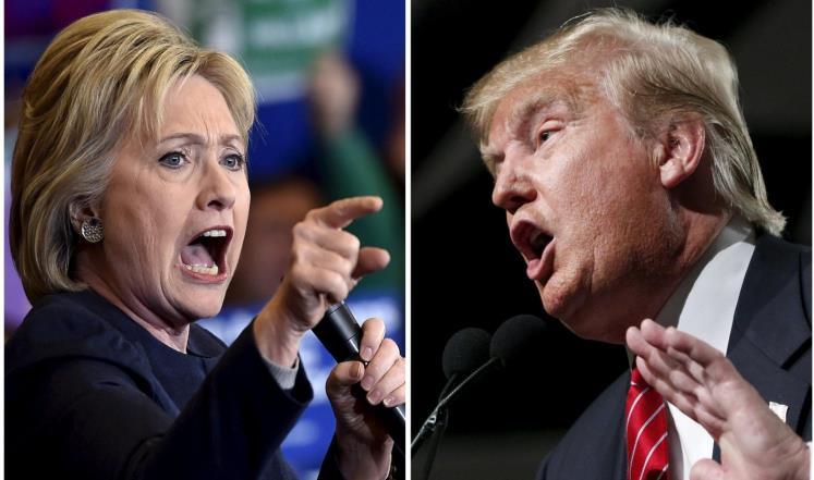 صراع الرئاسة بين ترامب وكلنتون