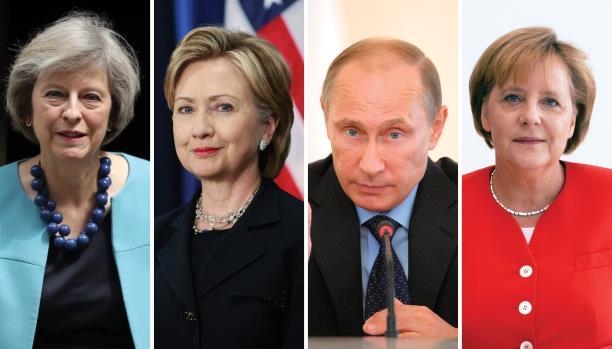 "بوتين محاصراً بثلاث سيدات ""حديديات"""