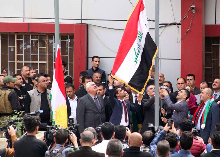كركوك تتمرد على بغداد برفع علم الأكراد