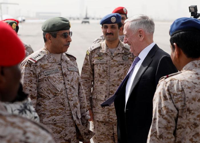 ماتيس في السعودية لتفعيل التحالف ضد إيران