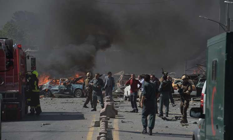 مقتل واصابة 40 شخصا على الأقل بانفجار سيارة مفخخة في الحي الدبلوماسي