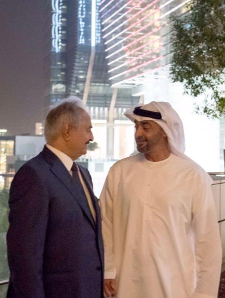 الإمارات تواصل وساطتها بين حفتر والسراج