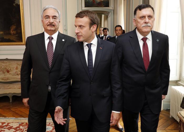 فرنسا ترعى مصالحة شاملة بين حفتر والسراج