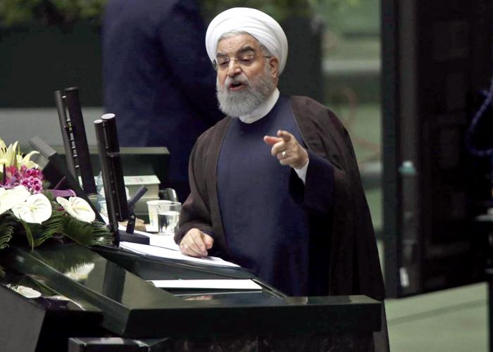 روحاني يهدد بنقض الاتفاق النووي ردا على العقوبات الأميركية