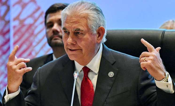 """تيلرسون: تدخل روسيا بالانتخابات الأمريكية خلق حالة """"خطيرة من عدم الثقة"""" بين البلدين"""