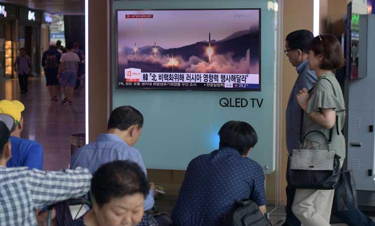 كوريا الشمالية تطلق صواريخ قصيرة المدى وترامب اطلع على عملية الإطلاق