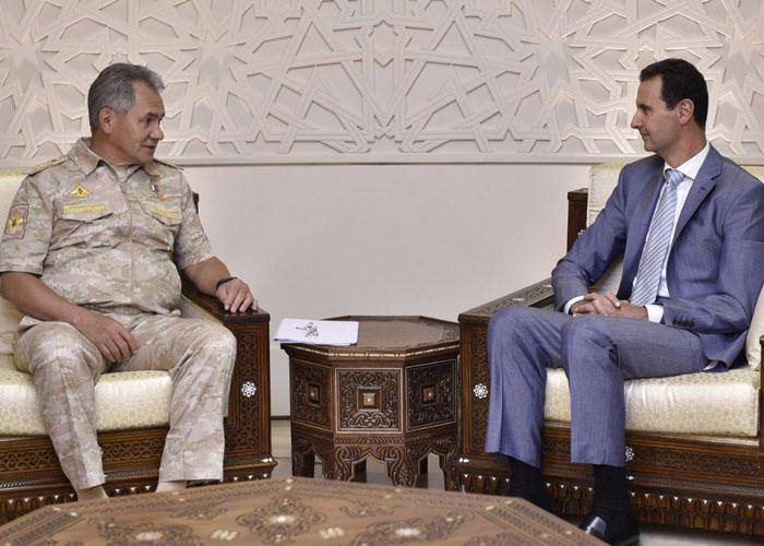 شويغو يجتمع بالأسد في دمشق