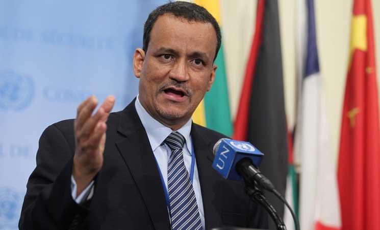 """الحكومة اليمنية ترحب بتمديد الأمم المتحدة مهمة مبعوثها """"ولد الشيخ"""""""