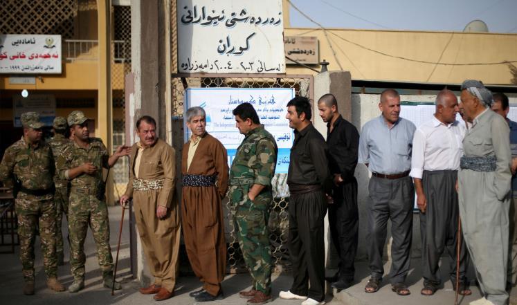 كردستان العراق يبدأ التصويت في استفتاء الانفصال
