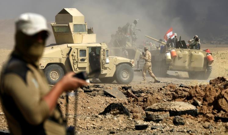 قتلى لتنظيم الدولة غرب الموصل وحشد عسكري بالحويجة