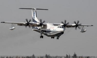 الصين تختبر أكبر طائرة برمائية في العالم