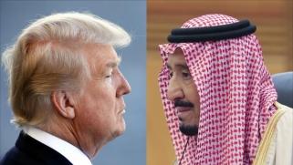 الملك سلمان يهاتف ترمب لبحث صاروخ الحوثيين
