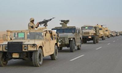 الجيش المصري: مقتل 15 إرهابياً وتدمير مركز إرسال لاسلكي بسيناء
