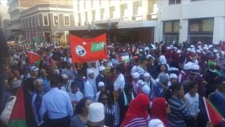 """""""انتفاضة"""" في جنوب أفريقيا تأييدا لفلسطين"""