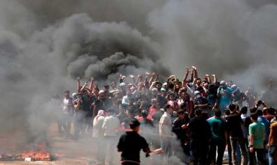 55 شهيداً بينهم 8 أطفال ومئات الجرحى برصاص الاحتلال قرب حدود غزة