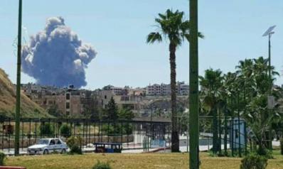 تفجيرات بمطار حماة وتكهنات بقصف إسرائيلي