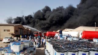 بغداد الحرائق: النيران تلتهم مخازن صناديق الاقتراع استباقا للفرز اليدوي