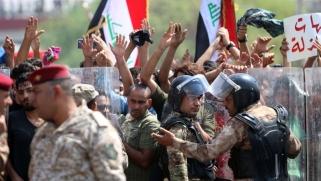 الاحتجاجات تغطي على مفاوضات تشكيل الحكومة الجديدة في العراق