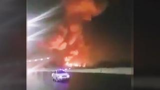 اشتعال النيران بعد انفجار قرب مطار القاهرة.. وهذه التفاصيل