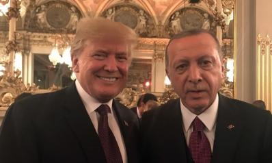 مباحثات بين أردوغان وترامب خلال عشاء باريس