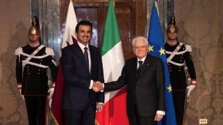 قطر وإيطاليا تؤكدان على حل الأزمة الخليجية بالحوار
