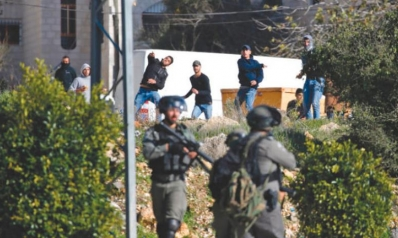 مواجهات في رام الله بين الجيش الإسرائيلي وشبان فلسطينيين