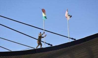 إنزال العلم الكردي في كركوك تزامناً مع وصول قيادات عسكرية