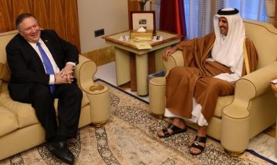 الشيخ تميم يبحث مع بومبيو الأزمة الخليجية والتعاون الإستراتيجي