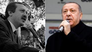 شاهد.. أردوغان يعيد قراءة شعر تسبب بسجنه قبل 22 عاما ومن نفس المكان