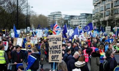 مليونية البقاء.. الشارع البريطاني ينتفض ضد الطلاق الأوروبي