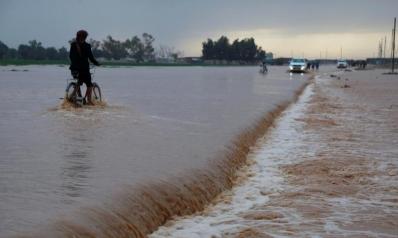 آلاف النازحين جنوبي العراق جراء السيول