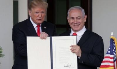 ترامب.. ضد التاريخ والسياسة في فلسطين والجولان