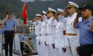 221 طائرة وسفينة حربية تنفذ أكبر مناورة بحرية في تاريخ تركيا