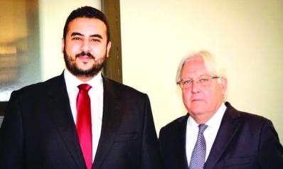 الأمير خالد بن سلمان لغريفيث: يجب وقف التدخلات الإيرانية في اليمن