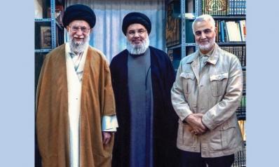 صورة خامنئي وسليماني ونصرالله… لبنان في صلب المشروع الإيراني