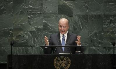 برهم صالح: الوضع في المنطقة خطير وينذر بعواقب كارثية