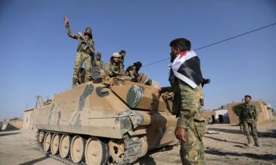 قوات النظام السوري على مشارف الحدود التركية