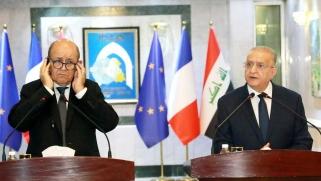 من بغداد.. لودريان يحذر من عودة تنظيم الدولة