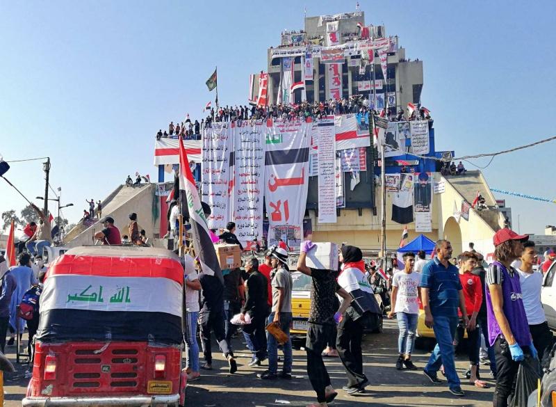 نتيجة بحث الصور عن احتجاجات العراق