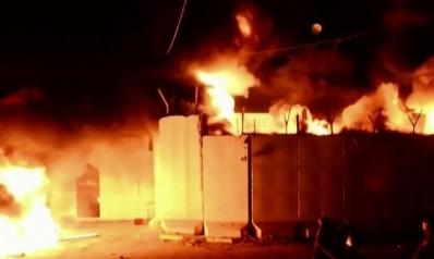 إحراق القنصلية الإيرانية بالنجف