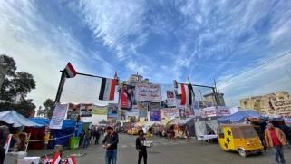 ساحة التحرير في بغداد: مستشفيات ومطابخ ومساعدات وحراس