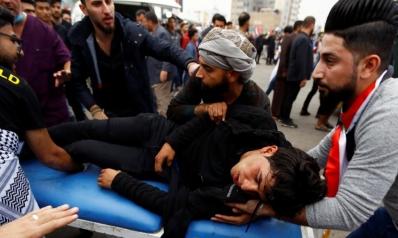 واشنطن تدين قمع المحتجين.. 70 جريحا بمواجهات بالنجف وحراك سياسي لاحتواء التوتر