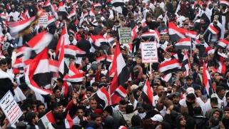 ما حقيقة أهدافه؟ مظاهرة بالآلاف لأنصار الصدر ضد الوجود الأميركي في العراق